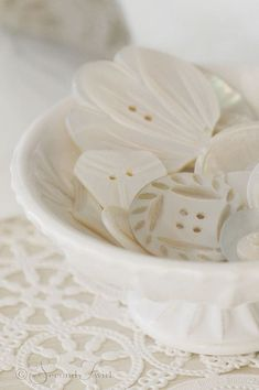 Vintage Carved MOP Buttons Photo by Second Twirl on Flickr