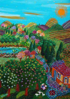 אמנים - אומנות ישראלית | גליה רון - לצייר פשוט, ציור נאיבי