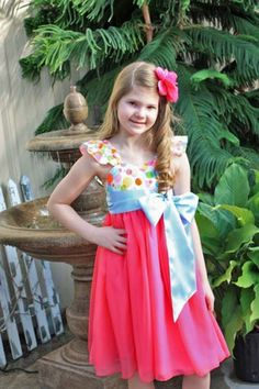 Bethany's Tween Fancy Party Dress | Sewing Pattern | YouCanMakeThis.com