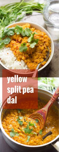 This flavorful and warming Afghan-inspired split pea dal is made with creamy yellow split peas simmered in ginger and toasty spices. Pea Recipes, Lentil Recipes, Veggie Recipes, Indian Food Recipes, Whole Food Recipes, Vegetarian Recipes, Cooking Recipes, Healthy Recipes, Vegetarian Split Pea Soup