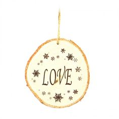"Wooden hand crafted ""Love"" Christmas ornament with snowflake print. Size: Cute decor which can be added to your homes this Christmas. Also, a great gift idea. Wooden Christmas Ornaments, Christmas Decorations, Holiday Decor, Christmas Gifts, Christmas Tree, Wooden Hand, Rustic Decor, Snowflakes, Festive"