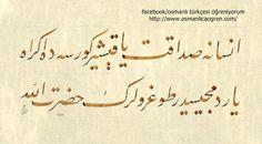 Ziya Paşa'dan...İnsana sadakat yaraşır görse de ikrah yardımcısıdır doğruların hazreti allah