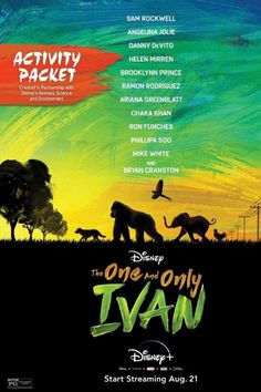 Baby Elephant Name, One And Only Ivan, Things To Do At Home, Award Winning Books, Author Studies, Disney Plus, Free Activities, Children's Literature, Friendship