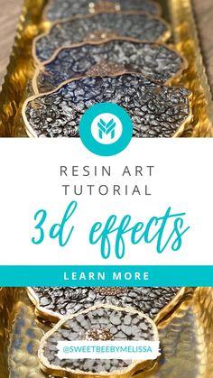 Diy Resin Projects, Diy Resin Art, Diy Resin Crafts, Diy And Crafts, Acrylic Pouring Art, Acrylic Resin, Resin Tutorial, Diy Clock, Resin Molds