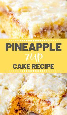 Easy Pineapple Cake, Pineapple Desserts, Pineapple Recipes, Pineapple Cake Mix Recipe, Pinapple Dessert Recipes, Cake Mix Desserts, Cake Mix Recipes, Easy Desserts, Delicious Desserts