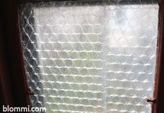 15 Low Tech Fixes for a Drafty House - One Crazy House Apply bubble wrap to window to keep out the cold Bubble Wrap Window Insulation, Bubble Wrap Windows, Old Basement, Basement Windows, Window Draft, Papier Diy, Old Windows, Home Repairs, Cozy House
