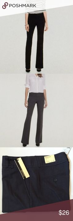 "NWTS EXPRESS Editor's Flare Leg Slacks, SZ2, Gry/B These classic year-round, Editor Slacks, are perfect for work, or play. Extremely comfortable and forgiving, and to top that: flattering! They are low-rise, w/ luxury stretch. Their ID # is 90053. Pic #4 gives truest depiction of color; dark grey/black mix. Please note, the rise is approx 6.5"". Inseam is 33"". W 26"". A total weeklong closet staple! Wear with jacket/heels, or, Tee & tennis or sandals. Good to GO! Please Enjoy! 💚💗 Express…"