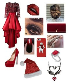 """""""Christmas Day"""" by avahone ❤ liked on Polyvore featuring Christian Pellizzari, Casadei, Louise et Cie, Allurez and Black Swan"""