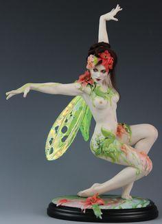 Fada Flor # 1 por Renata Jansen Uma de pinturas tipo OOAK 3D em Argila - Polymer Esculturas
