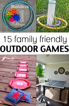 A fun collection of outdoor games for the entire family
