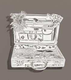 bovey lee - cut paper briefcase of summer