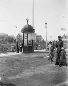 Item I-68833 - Golden Gate Midwinter Fair, San Francisco; Electric Tower ticket booth. Golden Gate, Ticket, San Francisco, Archive, Electric, Tower, Street View, Computer Case, Towers