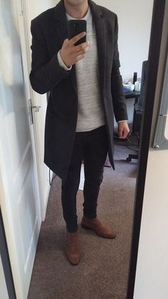winter mens fashion which trendy. Stylish Mens Outfits, Casual Outfits, Men Casual, Fashion Mode, Mens Fashion, Fashion Outfits, Fashion Trends, Mein Style, Herren Outfit
