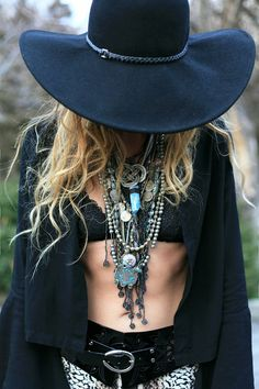 awesome Bohemian Style 2. But all I want is that hat, cardigan, and necklaces