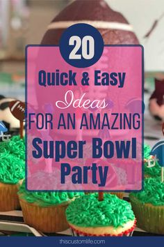 20 Quick and Easy Ideas To Make Your Super Bowl Party Amazing! – This Custom Life 20 Quick and Easy Ideas To Make Your Super Bowl Party Amazing! – This Custom Life,Kids Party. Game Day Food, Food Labels, Food Menu, Party Planning, Yummy Food, Delicious Recipes, Make It Yourself, Football, American Football