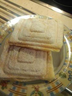 Pudingos finomság szendvics sütőben sütve
