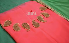 Different types of kurthi neck patterns - Simple Craft Ideas Embroidery On Kurtis, Kurti Embroidery Design, Embroidery Neck Designs, Embroidery Works, Beaded Embroidery, Embroidery Dress, Embroidery Patterns, Salwar Neck Designs, Blouse Neck Designs