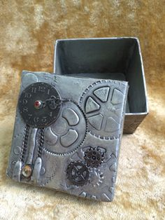 Clockwork Treasure Box by BecksCuriousities on Etsy
