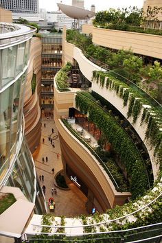 Namba Parks is an office and shopping complex located in Namba-naka Nichome, Osaka