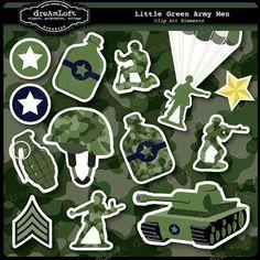Green Army Men Clip Art #army #clipart #camo
