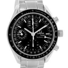 15804 Omega Speedmaster Day Date Black Dial Chronograph Mens Watch 3520.50.00 SwissWatchExpo