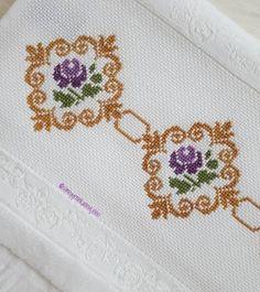 Cross Stitch, Embroidery, Handmade, Crafts, Embroidered Towels, Easy Cross Stitch Patterns, Cross Stitch Flowers, Cross Stitch Embroidery, Craft
