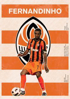 The Fernandinho/Shakhtar Donetsk poster Soccer Art, Soccer Poster, World Football, Football Soccer, Football Players, Superstar Football, Pop Art Design, Football Wallpaper, European Football