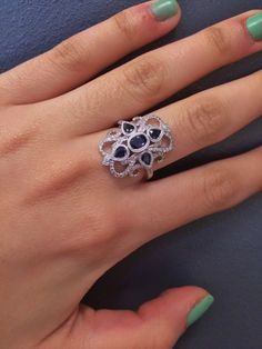 """Victorian Sapphire and Diamond ring at FMJ. Remember...""""There's no wrong way...when you shop FMJ""""!! #Sapphire #FMJ"""