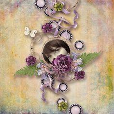 Sheer Beauty, Frost, Raspberry, Floral Wreath, Scrapbooking, Autumn, Kit, Templates, Elegant