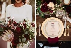 We& getting a little dark and bordering on gothic for our colour inspiration palette this week, as we go down the elegant, greenery-lined road to a magic Navy Winter Weddings, Elegant Winter Wedding, Classic Wedding Gowns, Autumn Wedding, Wedding Color Schemes, Wedding Colors, Wedding Flowers, Wedding Themes, Wedding Decorations
