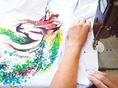 Tak powstają nasze koszulki #tshirt #streetwear #unicorn #sewing