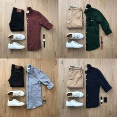 """Your casual clothes are the ones you wear on your own time. It's hard to put boundaries on what pieces of clothing count as """"casual"""" and wh. Modern Mens Fashion, Big Men Fashion, Fashion Tips, Urban Fashion, Men's Fashion, Lifestyle Fashion, Trendy Fashion, Fashion Design, Casual Wear"""