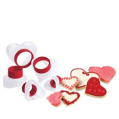 Cuisipro Heart Snap-Fit Cookie Cutter Set