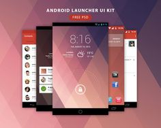 256 best ui kits images on pinterest ui kit app design and draw android launcher ui kit free psd maxwellsz