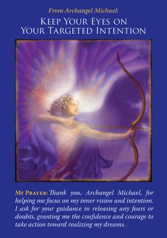 Oracle Card Keep Your Eyes On Your Targeted Intention | Doreen Virtue - Official Angel Therapy Website