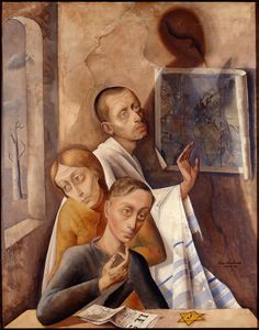 Felix Nussbaum - (Self?) portrait with Felka and Jacquie - 1944