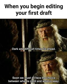 When you first begin editing your draft