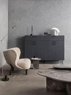 Superfront Launches Elegant Wood Collection Ikea Kitchen Units, Ikea Units, Nordic Interior Design, Gray Interior, Modern Interior, Interior Decorating, Grey Furniture, Furniture Design, Hanging Lamp Design