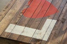 Stencil Wood Sign