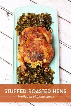 Stuffed Chipotle Roasted Hens via @sheenatatum #SeasonedGreetings #ad