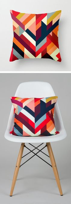 Geo pillow // love the pattern