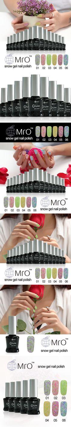 MRO Snow unhas de gel lucky uv gel nail polish set uv color gel nail lacquers nail glue vernis a ongle professional harmony