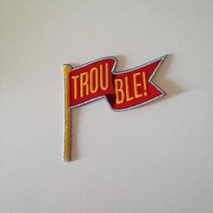 'Red Trouble Flag' Patch
