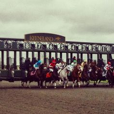 Keeneland! Missed it this year, but maybe Derby next year??!!! Would love that!