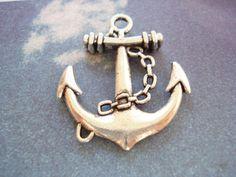 2pcs Anchor Antiqued Silver Tone Charm Pendant 31x27mm B-899 by yooounique on Etsy