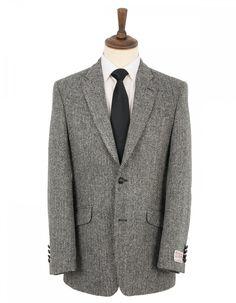 Harris Tweed Santinelli Harris Tweed Sports Jacket - Grey Herringbone