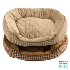 These #MarthaStewartPets Quilted Bolster Dog Beds are classic and comfortable - Only @petsmartcorp