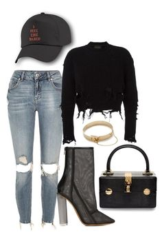 """""""Untitled #343"""" by milly-oro on Polyvore featuring Dolce&Gabbana, River Island, adidas Originals and Eddie Borgo"""