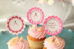 Items similar to Bachelorette cupcake toppers on Etsy Bachelorette Cupcakes, Bachelorette Banner, 12 Cupcakes, Themed Cupcakes, Bridal Shower, Baby Shower, High Chair Banner, Name Banners, Paris Theme