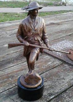 This is a miniature version of the Squire Boone statue that will be on the east end of Shelby County KY soon. Squire was Daniel Boones brother and he came to Shelby Co with 13 other pioneers and is an important part of our history. Find us on Facebook under squire Boone public figure for more information.